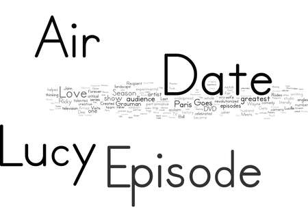 Word Cloud Summary of I Love Lucy Season 5 DVD Review Article 免版税图像