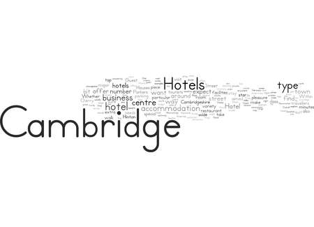 Word Cloud Summary of Hotels In Cambridge Article