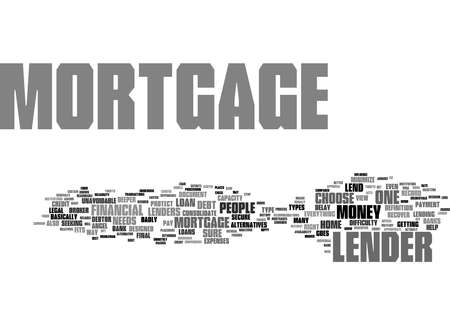 Word Cloud Summary of Mortgage Lender Article 免版税图像