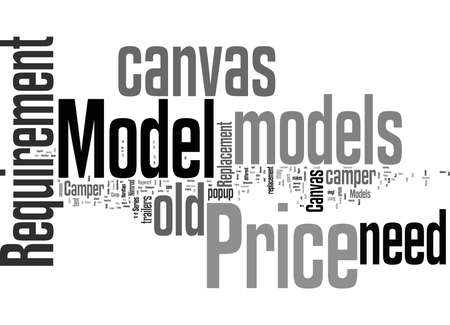 Word Cloud Summary of article Replacement Camper Canvas Stockfoto