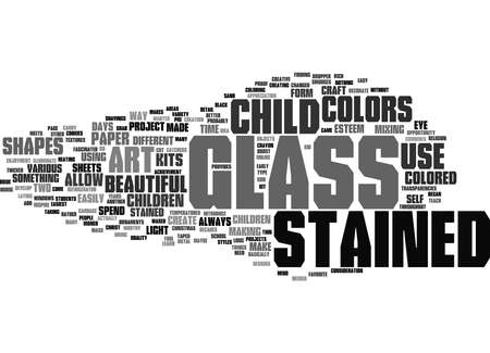Word Cloud Summary of Stained Glass Projects for Children Article