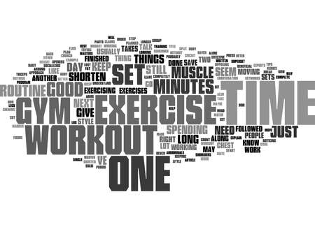 Word Cloud Summary of Some Tips to Help Shorten Your daily Workout Article