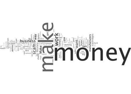 Word Cloud Summary of Make Money Scams Don t Work NoYou Don t Article
