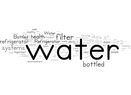 Word Cloud Summary of Refrigerator Water Filters vs Bottled Water Round Article