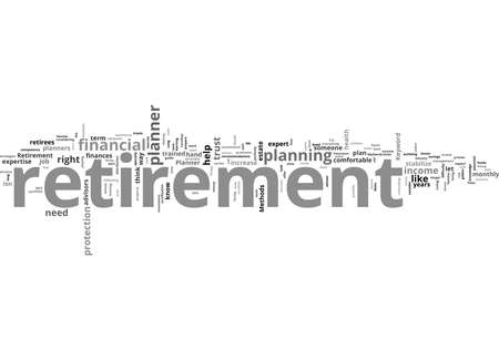 Word Cloud Summary of Retirement Planner Article