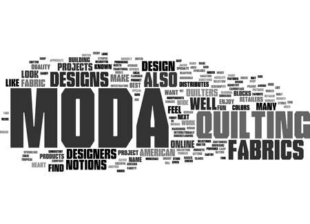 Word Cloud Summary of Moda Article