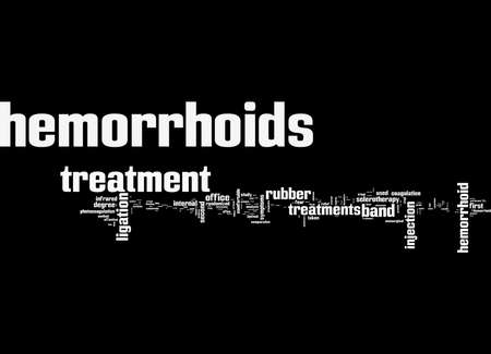 Word Cloud Summary of article Treatment Of Hemorrhoids Part I