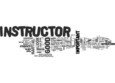Word Cloud Summary of article What Should I Look For In A Good Karate School Or Instructor 免版税图像