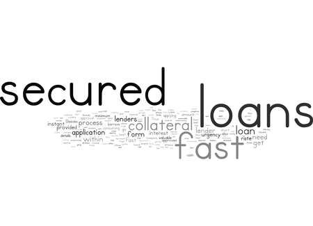 Word Cloud Summary of When Urgency Knocks Your Door get fast secured loans Article 免版税图像