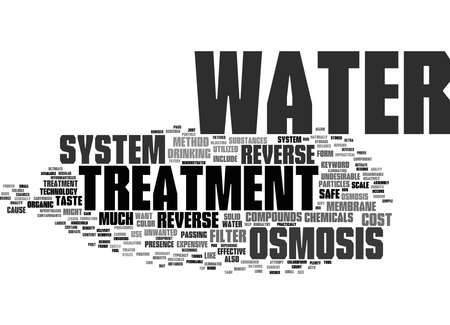 Word Cloud Summary of reverse osmosis water treatment system Article