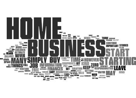 Word Cloud Summary of You Can Start Up A Home Business For Free And Keep Your Finances Under Control Article