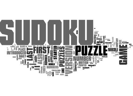 Word Cloud Summary of sudoku puzzle Article