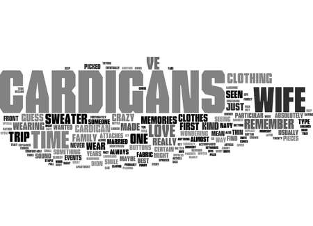 Word Cloud Summary of Why I Love My Wife s Cardigans Article