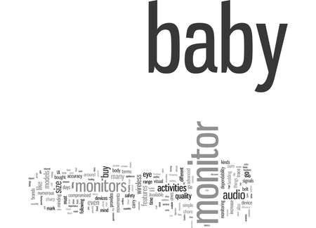 Word Cloud Summary of What To Look For When You Buy A Baby Monitor Article 免版税图像