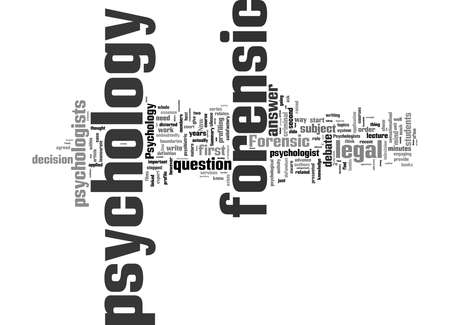 Word Cloud Summary of What Is Forensic Psychology Article 免版税图像