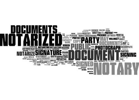 Word Cloud Summary of What documents cannot be notarized Article 免版税图像