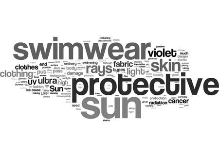 Word Cloud Summary of article Tanning Is Great But Get Some Sun Protective Swimwear 免版税图像
