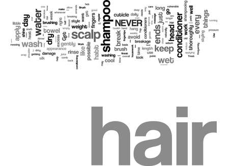 Word Cloud Summary of article Simple Steps for Beautiful Hair 免版税图像