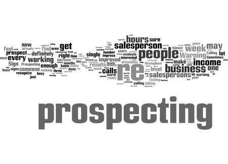 Word Cloud Summary of article The Three Warning Signs of Not Doing Enough Prospecting