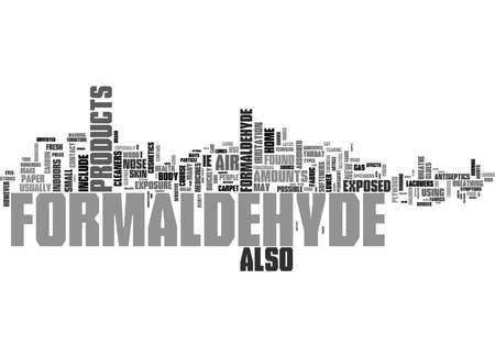 Word Cloud Summary of What You Should Know About Formaldehyde Article