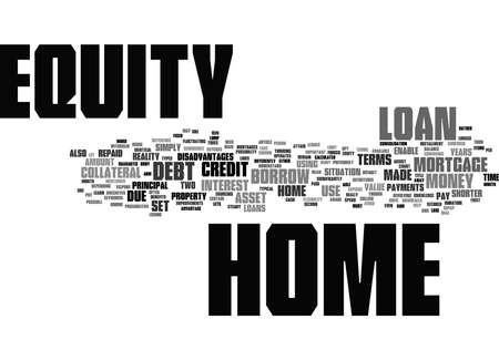 Word Cloud Summary of The Terms of Home Equity Article
