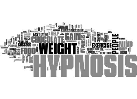 Word Cloud Summary of Why Hypnosis Works For Weight Loss Article 免版税图像