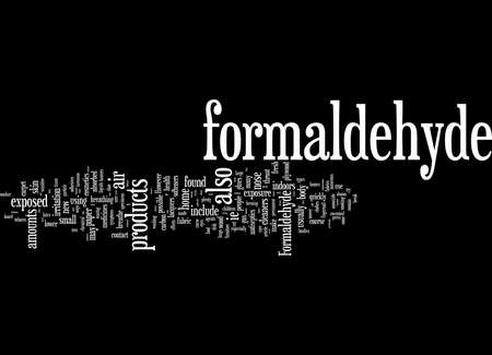 Word Cloud Summary of article what you should know about formaldehyde 免版税图像