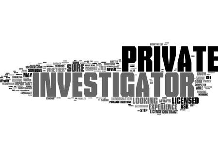 Word Cloud Summary of article Thinking About Hiring A Private Investigator Know What To Look For 免版税图像