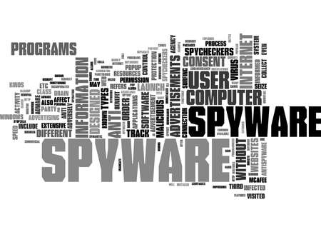Word Cloud Summary of article Spyware And Spycheckers