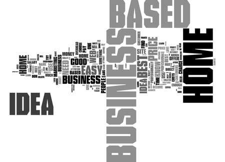 Word Cloud Summary of Proven 1 Best Home Based Business Idea Article