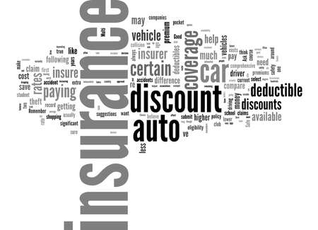 Word Cloud Summary of article Save money on your auto insurance Money saving car insurance tips 免版税图像