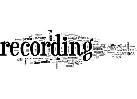 Word Cloud Summary of article the history of recording