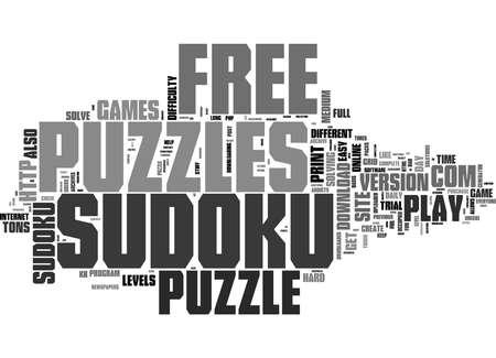 Word Cloud Summary of free sudoku puzzle Article 版權商用圖片