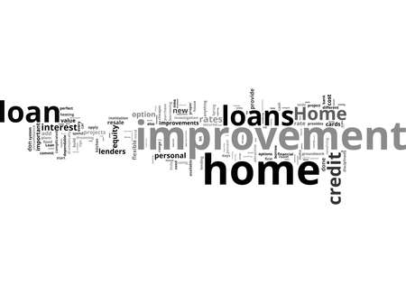 Word Cloud Summary of Your Home Improvement Loan Article Reklamní fotografie