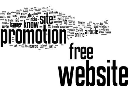 Word Cloud Summary of article Website Promotion For Free How Easy Is It To Succeed Now