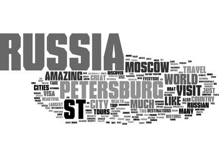 Word Cloud Summary of Why visit St Petersburg Article Reklamní fotografie
