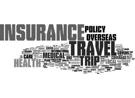 Word Cloud Summary of Why Traveler s Medical Insurance Is An Important Investment Article