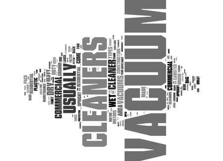 Word Cloud Summary of article Types Of Vacuum Cleaners