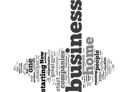 Word Cloud Summary of article The Main Problem Facing Home Business Owners Today Reklamní fotografie