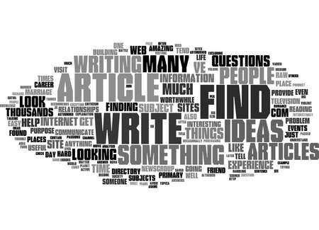 Word Cloud Summary of article Writing For The Web Where To Get Article Ideas