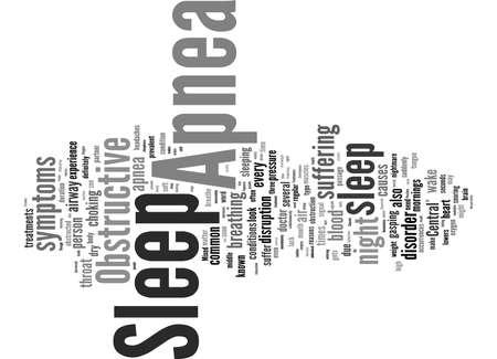 Word Cloud Summary of article Sleep Apnea A Sleeping Disorder
