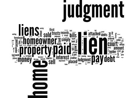 Word Cloud Summary of article What Is A Judgment Lien
