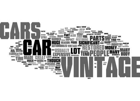 Word Cloud Summary of vintage cars Article
