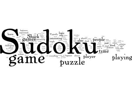 Word Cloud Summary of article sudoku shack Standard-Bild