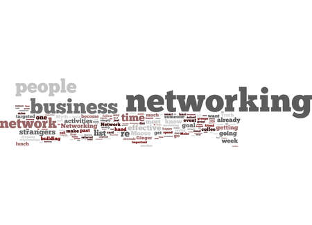 Word Cloud Summary of article Work Your Network