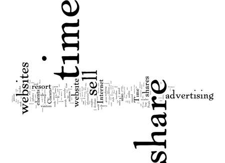 Word Cloud Summary of article sell time share