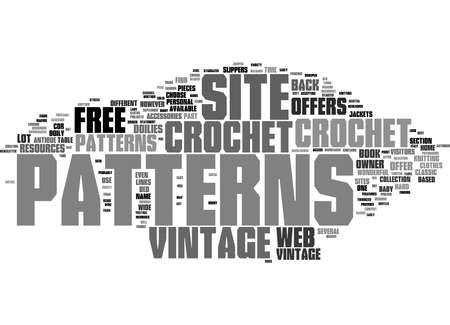 Word Cloud Summary of vintage crochet patterns 1 Article