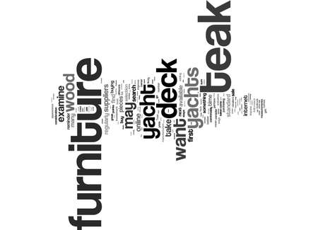 Word Cloud Summary of article What To Consider When Buying Teak Deck Furniture For Yachts