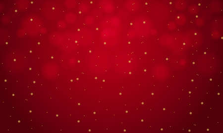 Abstract bokeh on a red background,Snowflake background.