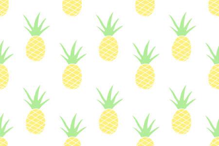 Pineapple seamless pattern,Vector,Illustration.